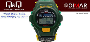 Vintage Watch Q&Q The Light. 9919, Wr 5m. Lap Memory 10. (L107 008)