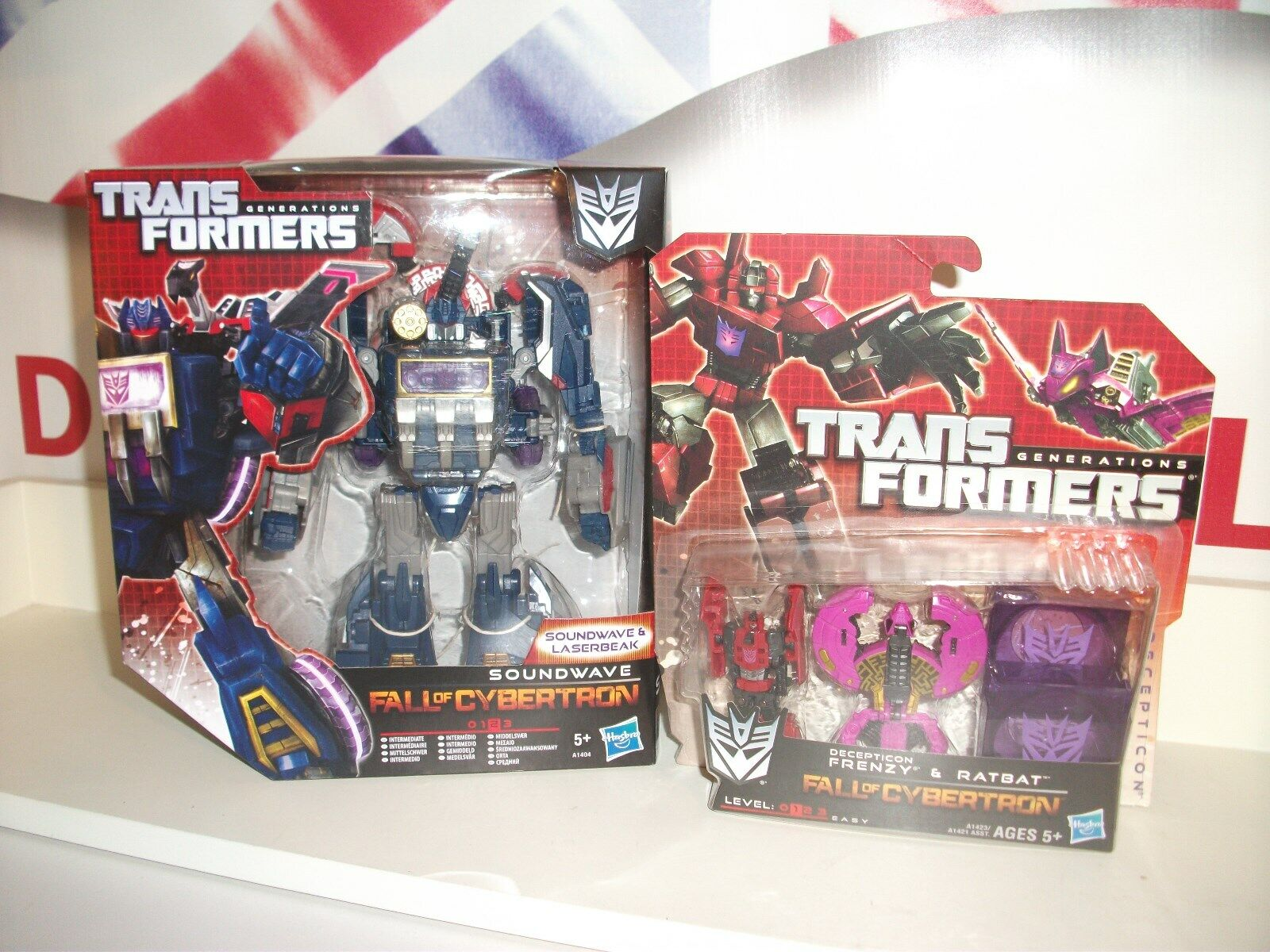 Transformers SOUNDWAVE & laserbeake + frenzy & ratbat BUNDLE  LOT postage discou