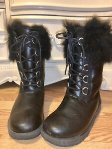 ugg boots size 8.5 Aya Snow Boots Black
