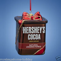 Hy0447 Hershey's Cocoa Glass Christmas Ornament Baking Kitchen Chocolate