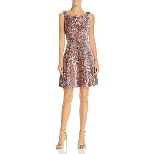Laundry by Shelli Segal Womens Pink Velvet Sequined Party Dress 4 BHFO 6827