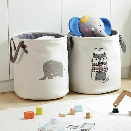 Foldable Washing Clothes Laundry Basket Sorter Bag Hamper Toy Storage Container