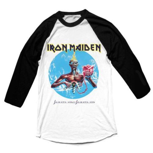Iron Maiden /'Seventh Son/' Long Sleeve Baseball Shirt NEW /& OFFICIAL!