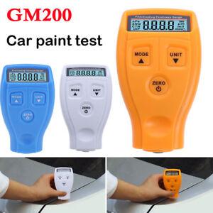GM200 Digital LCD Car Paint Coating Thickness Probe Tester Gauge Measuring Tool