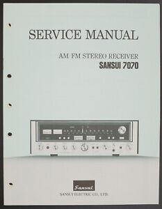 details about sansui 7070 original stereo receiver service manual diagram parts list o220 vw radio wiring diagram stereo receiver wiring diagram #14