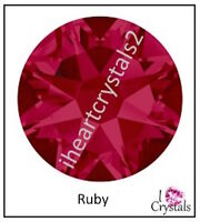 RUBY Pink Red 72 pieces 20ss 5mm Swarovski Crystal Flatback Rhinestones 2088