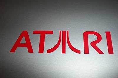 "NEW ""ATARI"" Logo Vinyl Decal Sticker RED 5"""