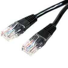 10x 1m CAT5 Internet/Ethernet Data Patch Cable - RJ45 Router/Modem Network Lead