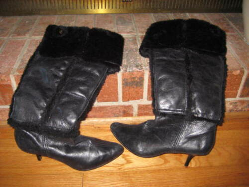 Naughty Monkey Boots w/ Faux Fur Trim Size 8