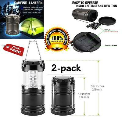 Collapsible LED Lanterns Light Lamps Emergency Camping As Seen TV 2-Pack