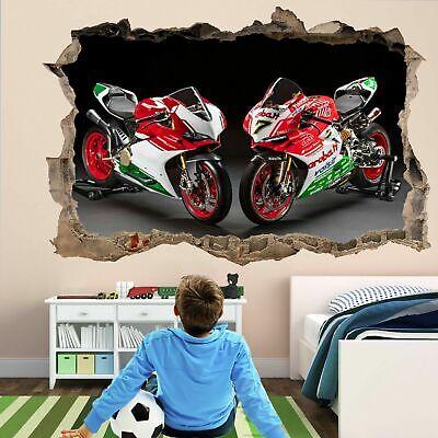Motorbike Motorcycle Wall Art Sticker Mural Decal Poster Home Garage Decor DM2