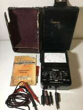 Simpson 260 Series 7 Multimeter Withcase Manual Amp Leads Ships Free