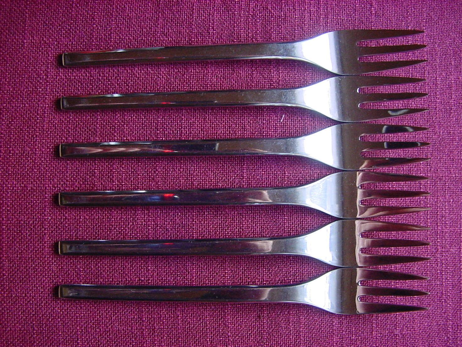 WMF Helsinki Cromargan 6 cake forks 15,8 cm