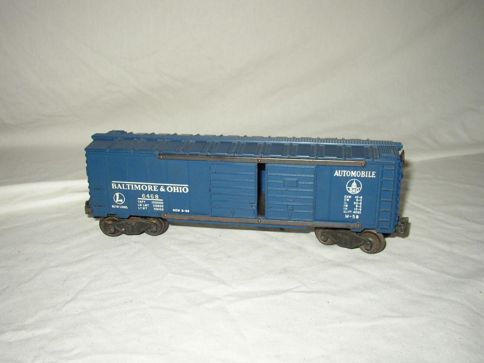 LIONEL 6468 B & O scatolaauto AUTO HAULER  LOT  SE6