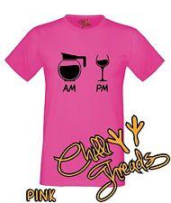 AM / PM DRINK, Wine, Coffee, Funny, Joke T-shirt Vest Tshirt