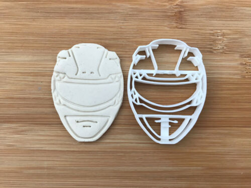 Power Ranger face Vendeur Britannique Biscuit Cookie Cutter Fondant Décoration Gâteau
