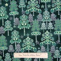 Christmas Fabric - Evergreen Silver & Green Trees Holiday - Hoffman Yard