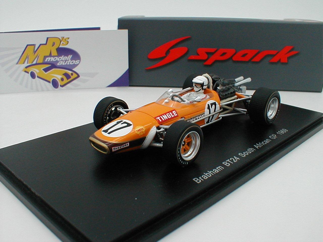 SPARK s5255-Brabham bt24 du South African GP 1969  Sam Toutes  1 43 NEUF
