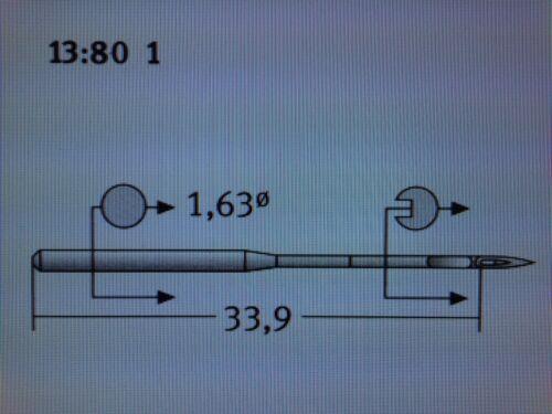 Sehmetz DBX5 CANU 13:80 1 NM80 tamaño 12 Agujas de Máquina de Coser Industrial emroidery