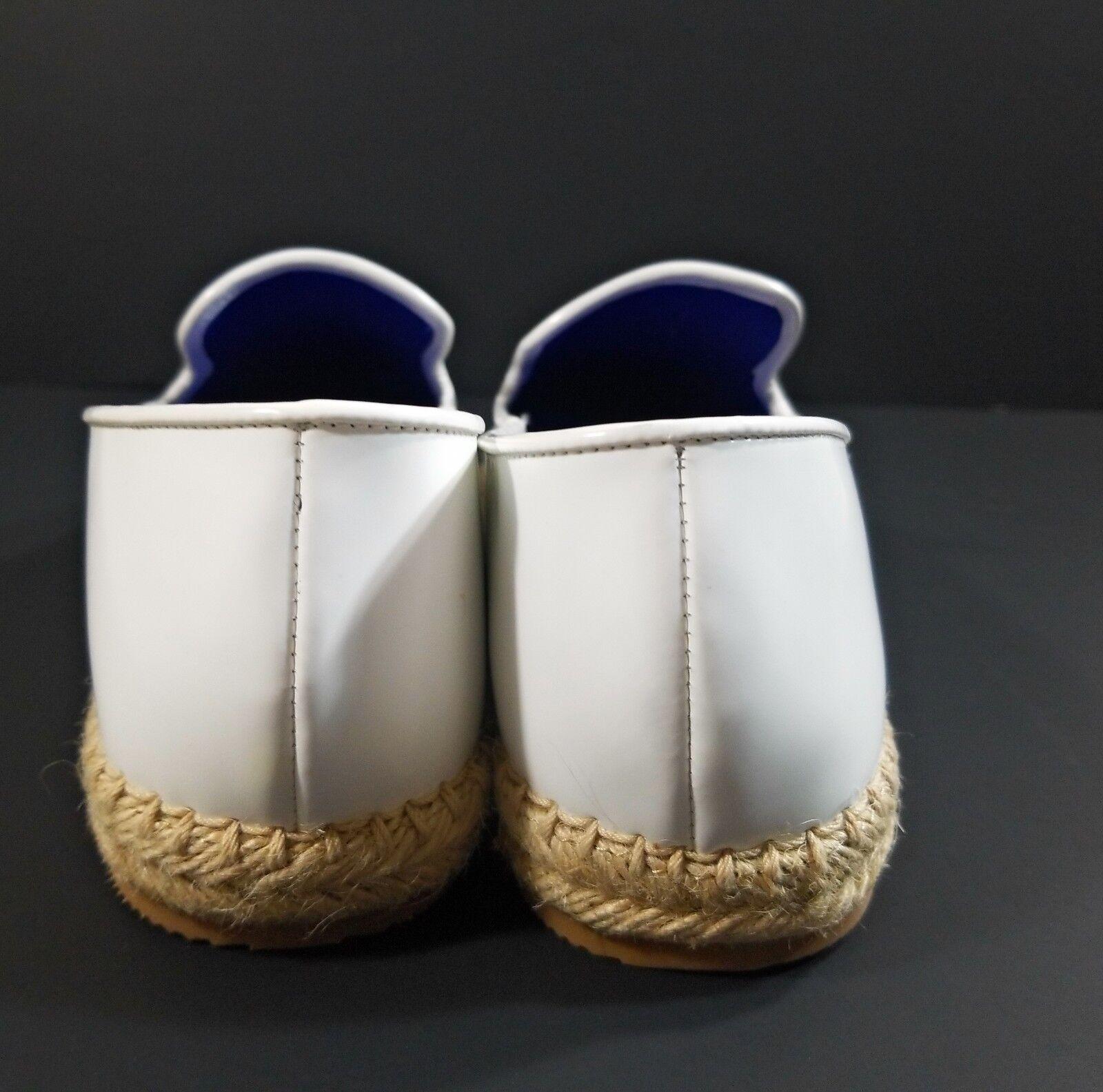 Zapatos De De Zapatos Cuero Campbell Ibiza last Mujer blancoo antideslizante en mocasines de fumar Flats 8.5 a31c18
