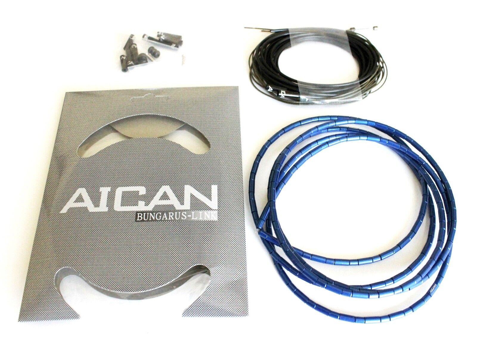 AICAN Superlight Bungarus SHIFT DERAILLEUR Cable Housing set kit I-Link, Blau
