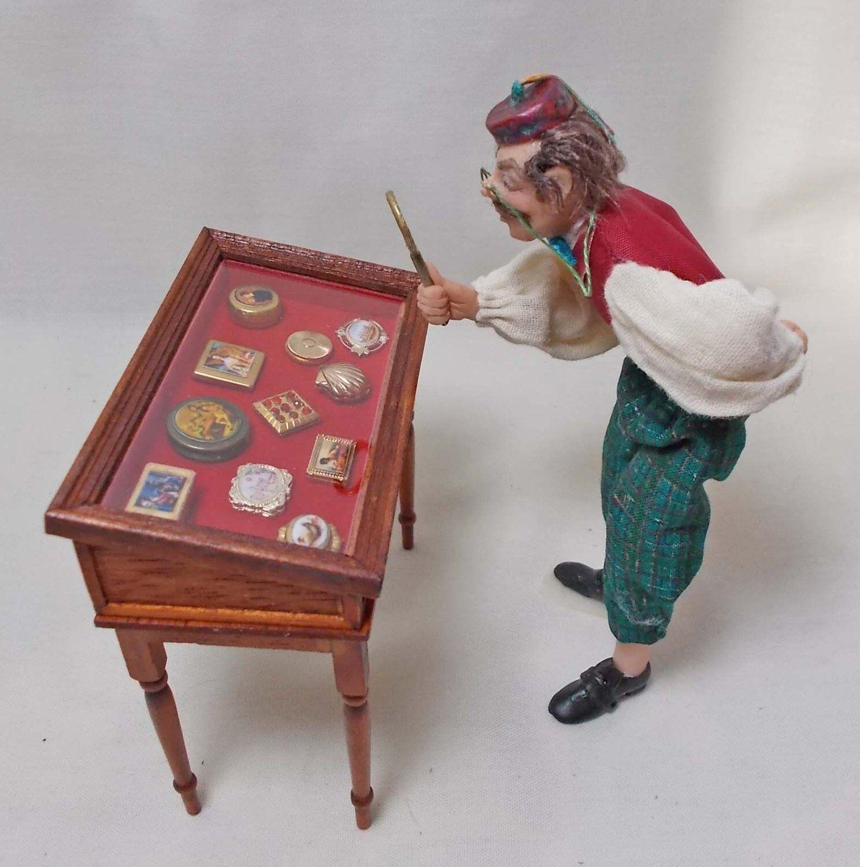 Casa De Muñecas Miniaturas caja de rapé Coleccionistas Mesa Downton Abbey Estilo