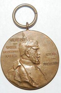 1897-guillaume I De Prusse Médaille Commémorative-afficher Le Titre D'origine