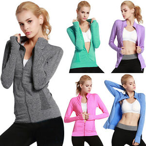 Womens-Quick-dry-Gym-Running-Jogging-Yoga-Zip-up-Sports-Coat