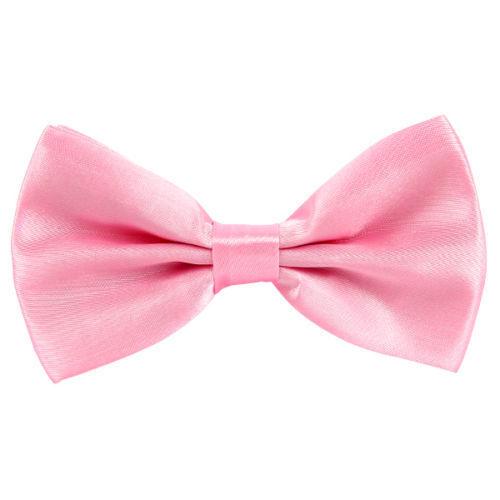 Classic Satin Men Pre Tied Wedding Party Fancy Plain Necktie Bow ties