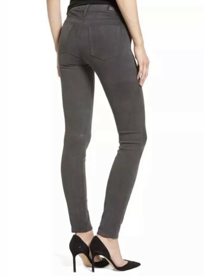 NWT Adriano goldschmied The Suede Legging Super Skinny Leather Jean Pant 24