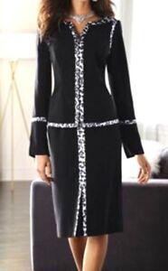 Midnight Velvet Honeydew Dress Tulip Hem Skirt Suit Business Church 10 16 16W