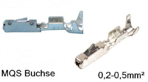 50 MQS casquillos contacto Quadlock 0,2-0,5mm² bmw mercedes ford AUDI VAG