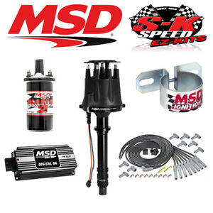 Super Msd Black Ignition Kit Digital 6A Distributor Wires Coil Bracket Big Wiring Cloud Hisonuggs Outletorg