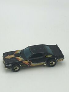 Vintage-Hot-Wheels-Blackwalls-Ford-Torino-Black-Race-Car-3-1974-Hong-Kong