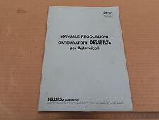 DEPLIANT ORIGINALE REGOLAZIONE CARBURATORI DELL'ORTO 1990 ALFA 75 FIAT ETC