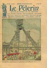 Mine Stein Explosion Firedamp Dortmund Westphalia Germany 1925 ILLUSTRATION