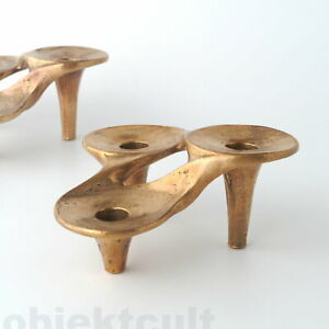 Harjes-Metallkunst-Bronze-Kerzenleuchter-Kerzenstaender-Candle-Holder-Candelabra