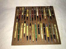 Vintage Lot Of Old Advertising Mechanical Pencils Gas Oil Mack Pennzoil 30