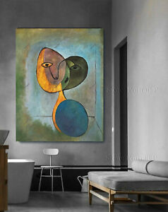 Pablo Picasso Oil Painting Portrait Woman Hand-Painted Art Canvas Large 36x48in