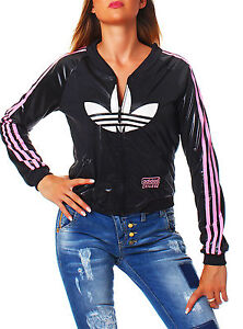 adidas chile 62 deep v tt trainingsjacke damen schwarz. Black Bedroom Furniture Sets. Home Design Ideas