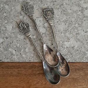 Silver Plate Teaspoons, Aruba Teaspoons, nio 90, Vintage Teaspoons.