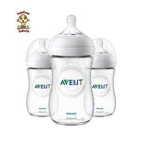 Avent Natural Feeding Bottle, New Spiral Teats Design, 9 oz, 3 pack, BPA Free