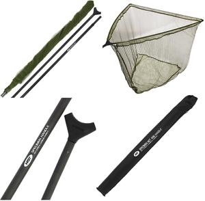 Fishing Landing Net Stalker 42  Carp Net Carbon Arms, 2pc, 6ft Handle & Case