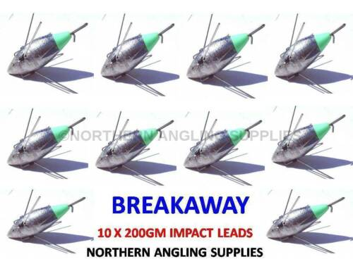 Breakaway Tackle Nouveau Impact plomb 200 G-Pack de 10