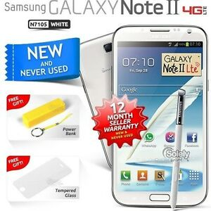 New-Sealed-Unlocked-Samsung-Galaxy-Note-2-N7105-White-4G-LTE-Android-Smartphone