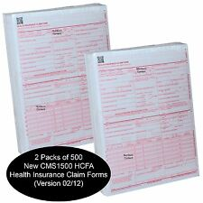 1000 Forms, New CMS 1500 HCFA Health Insurance Claim Forms (Version 02/12)