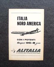 [GCG] M712 - Advertising Pubblicità - 1960 - ALITALIA ,SUPER DC-8 JET,OLIMPIADI