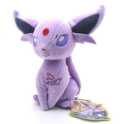 """New 7"""" ESPEON Pokemon Rare Soft Plush Toy Doll/PC2059"""