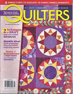 Quilters Newsletter Magazine Draft Design Techniques 3-D Fabric