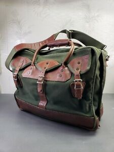Orvis-Battenkill-Distressed-Canvas-Leather-Metal-Rivet-Carry-On-18-034-Duffle-Bag